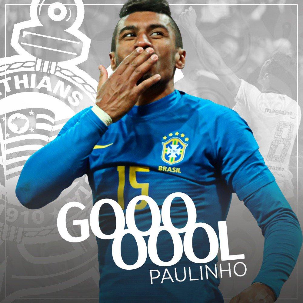 GOOOOOOOOOOOOOOOOOOOOOOOOOOOOOOOOOOOOOOOOOOOOOOOOOOOOOOOOOOOOOOOOOOOOL DO CORIN.... DO BRASILLLLLLLLLLLLLLLLLLLLLLLLL!!! Paulinho aproveita passe de Coutinho e abre o placar com chute de cobertura!!!  #VaiBrasil #VaiCorinthians #GigantesPorNatureza  #WorldCup