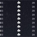 Image for the Tweet beginning: なにこれバグ???? 雨激しすぎて家から出たくない。