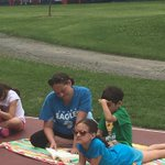 Enjoying a book on a beautiful summer day- ☀️Thank you D123 Ed Foundation! #swd123 #d123 #keepkidsreading