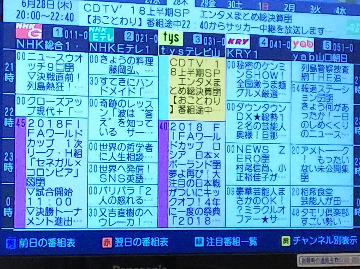 表 番組 フジ テレビ
