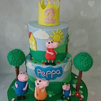 Happy 2nd Birthday Daisy Maipepperpig Princess 2tier Cake