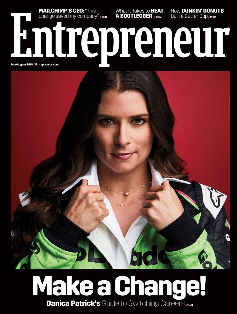 Covers are always cool but to be on a cover to talk about @somniumwine @prettyintensebydanica and @warriorbydanica is EXTRA cool! I am so grateful for the platform racing has given me, but as you can see, there is a layer beneath it!😆 @entrepreneur @godaddy #sidehussle #dreambig