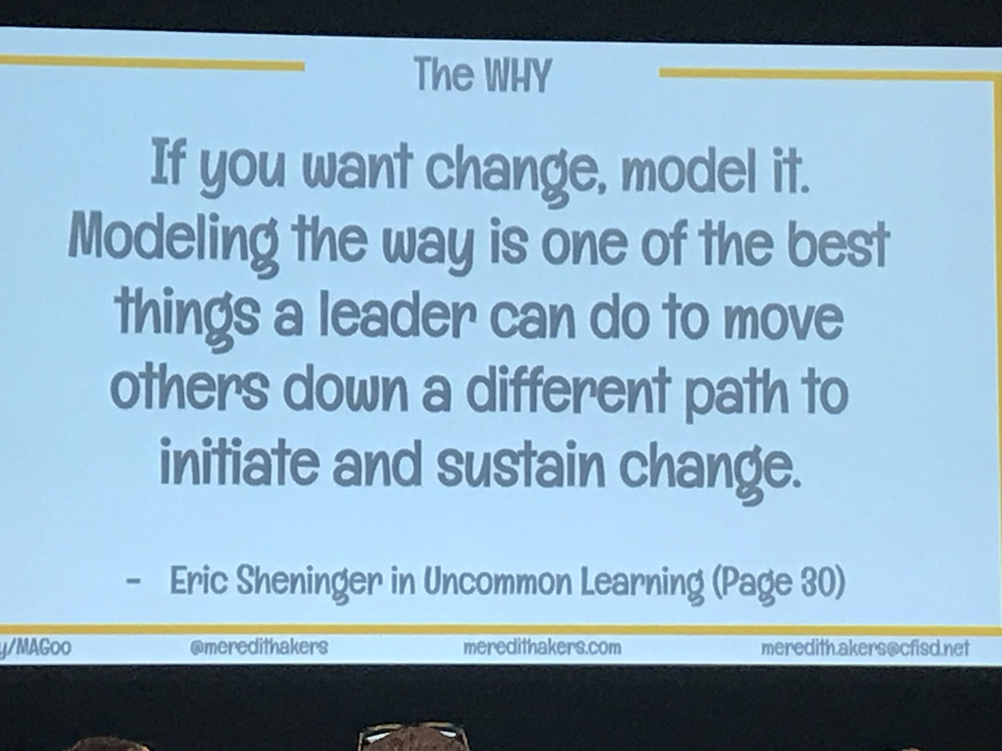 So refreshing to hear Technology sessions led by Admin. Lead learners are SO important. Kudos Meredith Akers! @meredithakers #iste2018 https://t.co/0H0RHBkHJ6