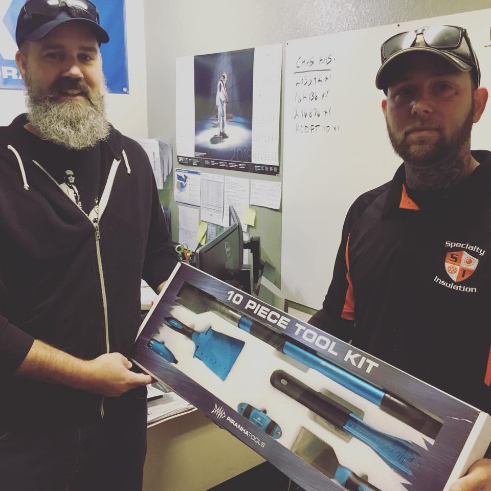 Piranha Tools Large Scraper for Spray Foam Insulation