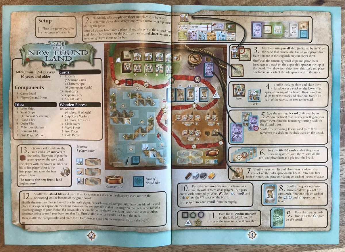 boardgamegeek on twitter the set up rules for race to the new