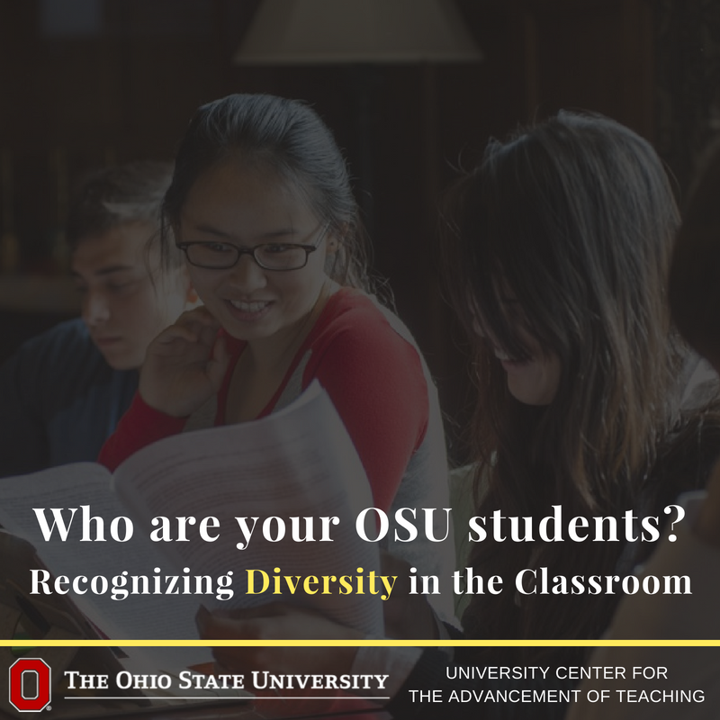 "Assumption: If everyone is diverse, then why does it matter? The idea is to recognize that students bring their identity & experiences to the classroom. The goal is to create an env. where ""teaching is designed to improve the learning of all students"" https://t.co/YRi4f2tqhU"