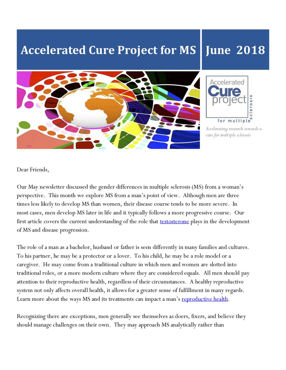 accelerated cure on twitter the accelerated cure project for ms