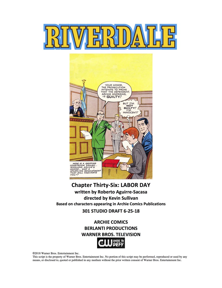 And so Season 3 of #Riverdale begins! Thrilled & honored to get to tell more stories w/this incredible cast & crew!