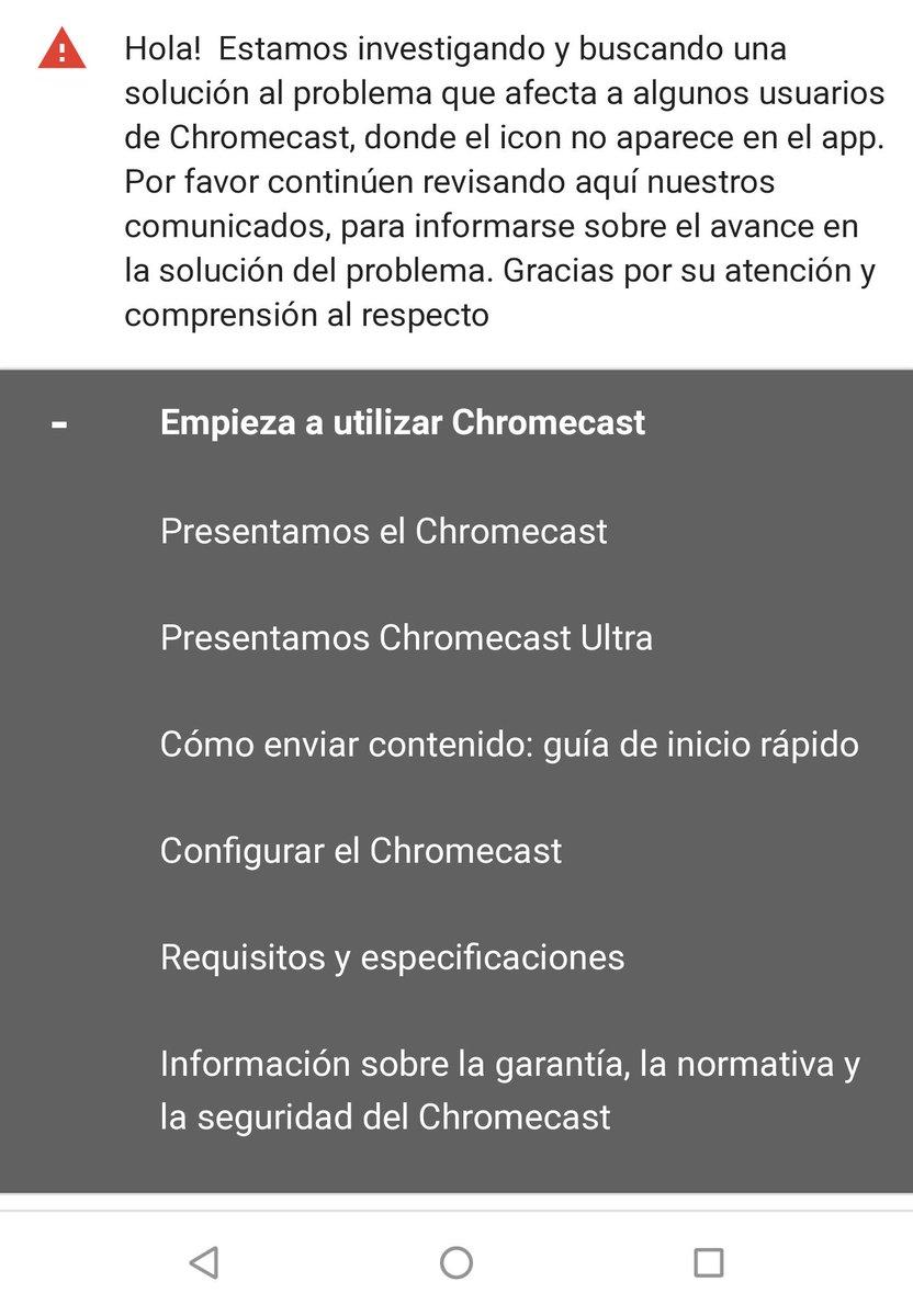 @GoogleES el #Chromecast fuera de servicio, espero que pronto lo podáis solucionar.