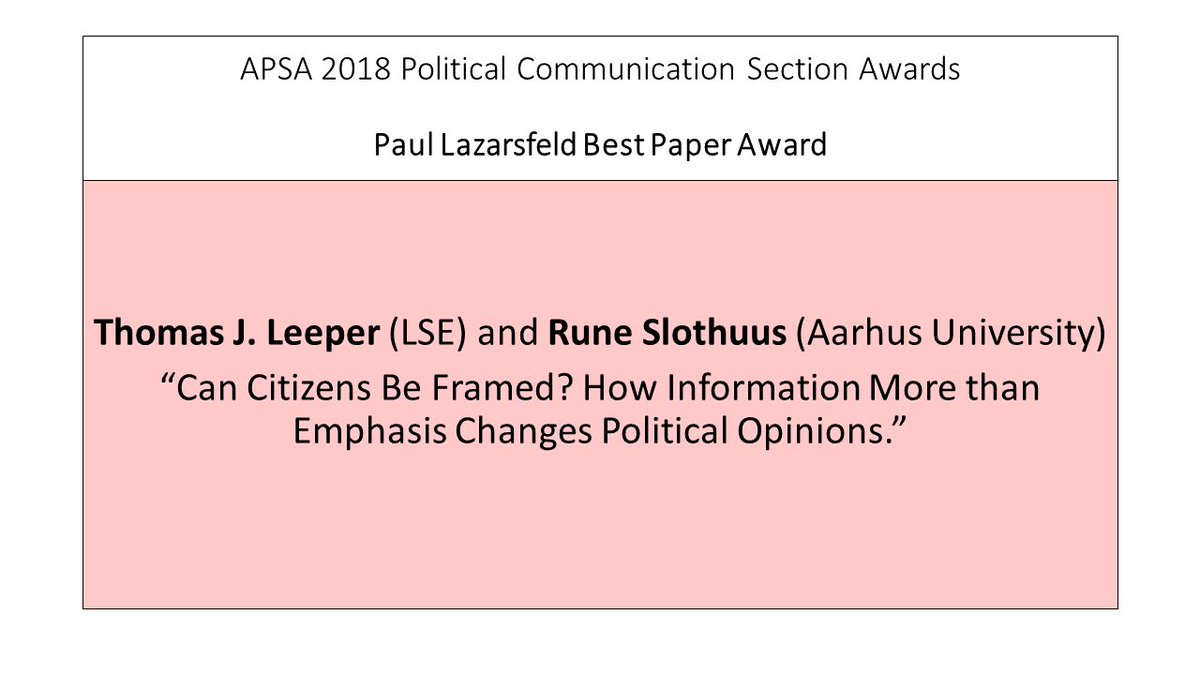 apsa best dissertation award