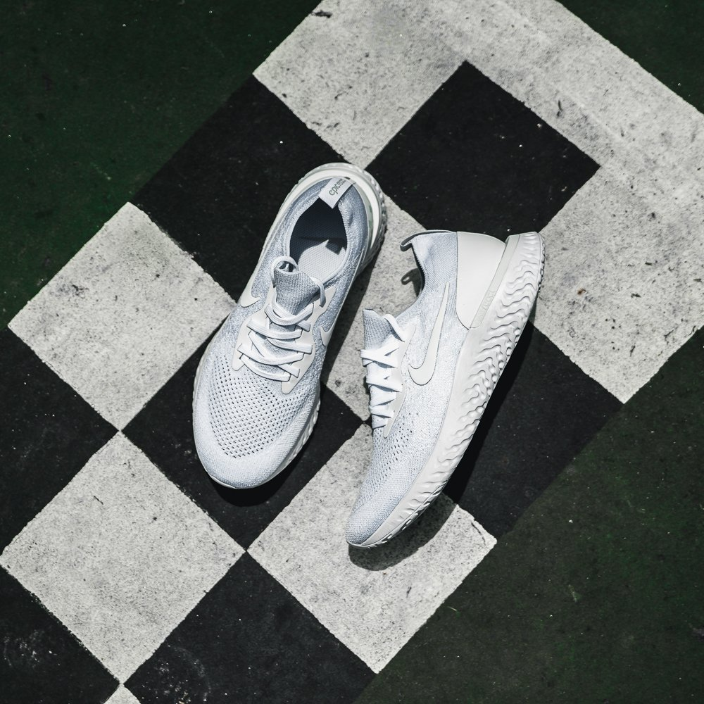 f52b7a09dcb1 T R I P L E W H I T E  Nike Epic React Flyknit  Triple White  Available  Online and In Stores THURS 6 27  triple  white  epic  react ...