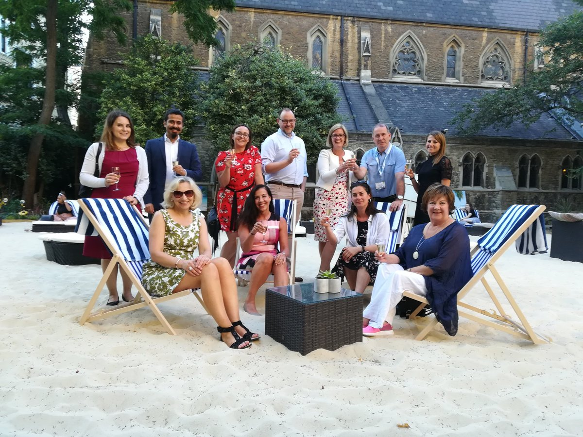 Yes it's a beach in central London @ABPCO  @KensBG #eventprofs #TMS18 #weknowhowtoparty