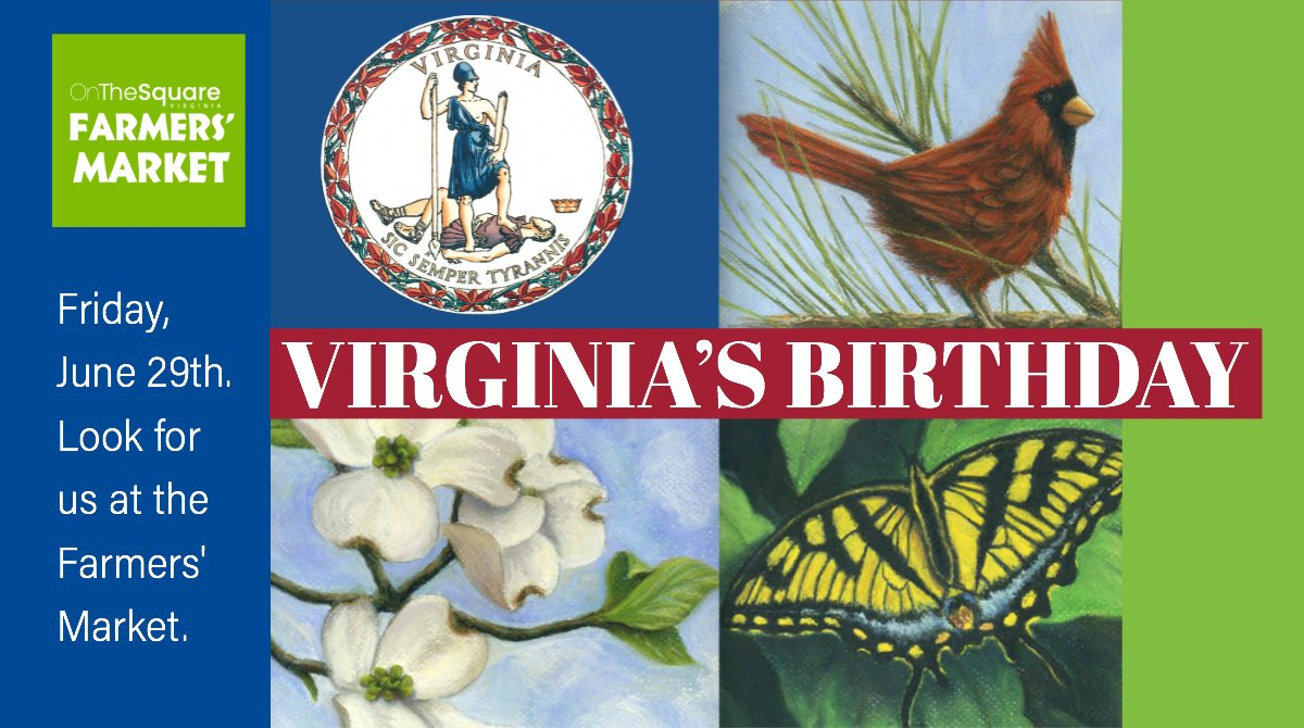 At Wednesday Farmers Market I Signed >> Onthesquareva On Twitter Happy Birthday Virginia Look For Us At