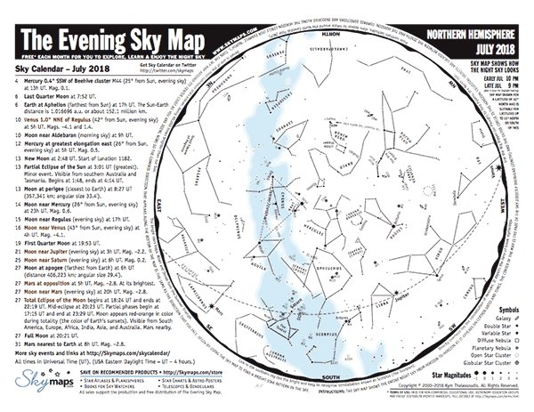 Skymapscom On Twitter The Evening Sky Map For July Is Now - Star map now
