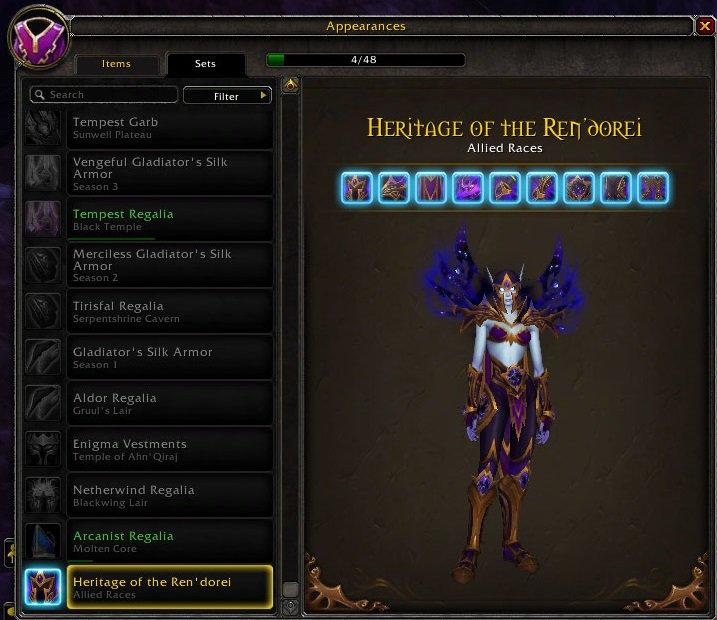 Void elf heritage armor