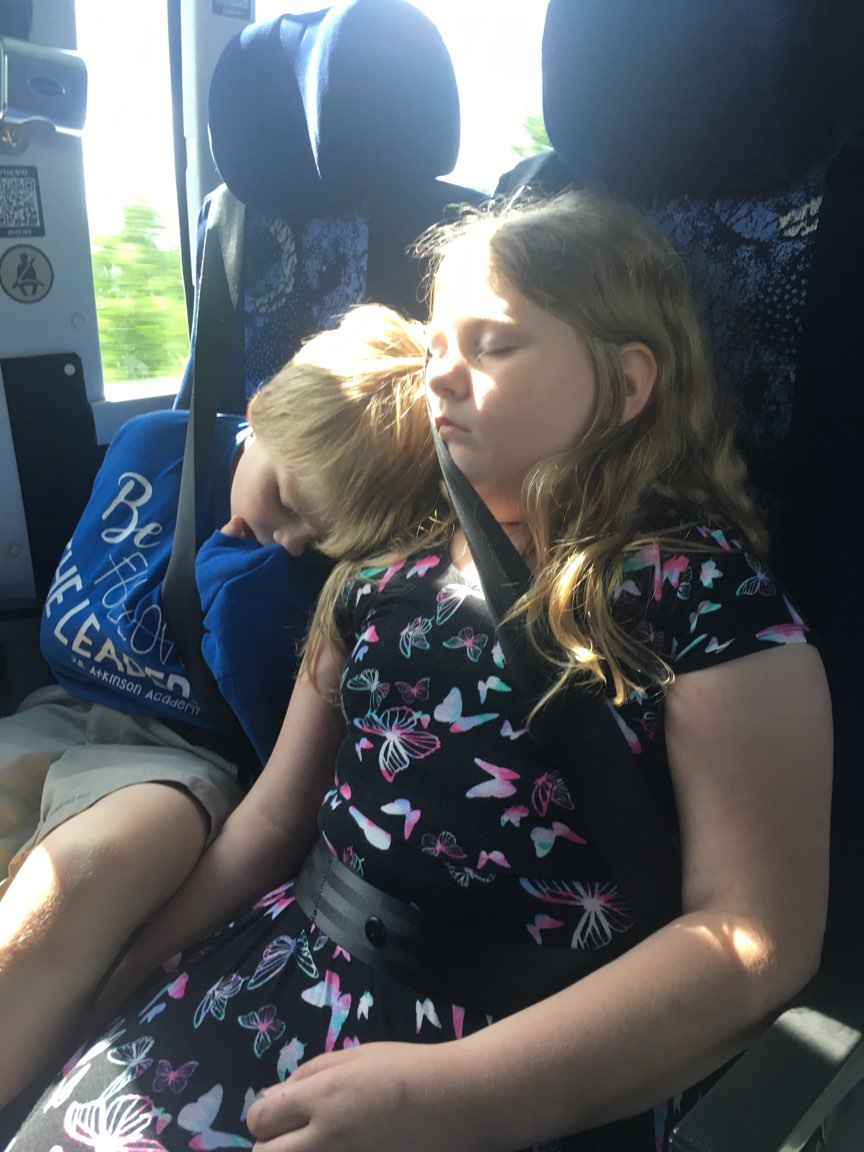 You know it was a good trip to @TCMIndy when the whole bus sleeps all the way home. @JCPSKY