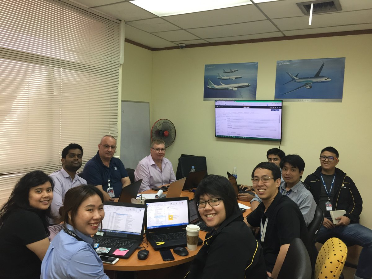 """We're gonna need a bigger desk!"" Our #RusadaProjects team get their teeth into ENVISION nGen with our @NokScoot team. #AvTech # AvMRO"