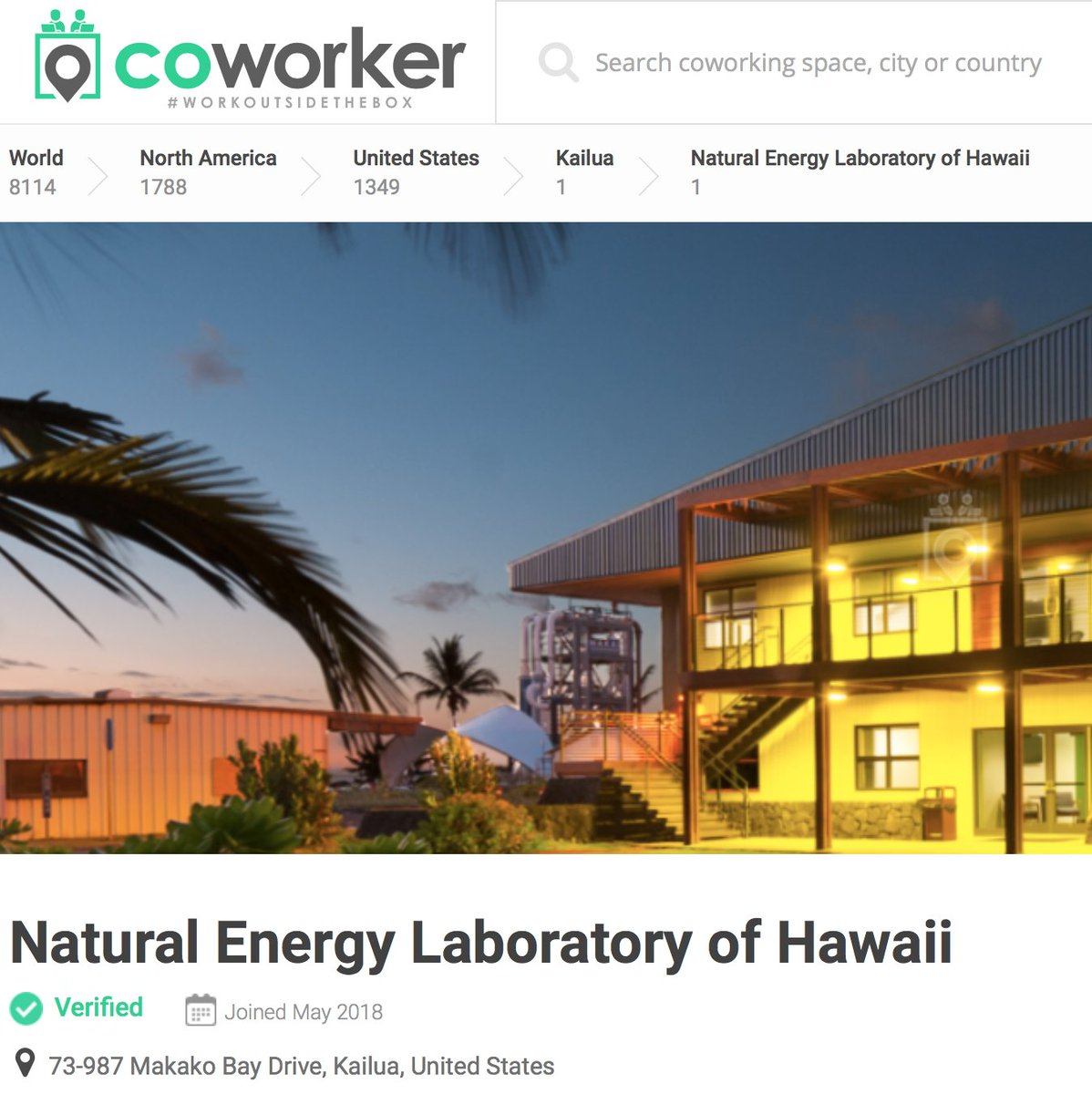 Natural Energy Lab On Twitter Interested In Co Worker Space In