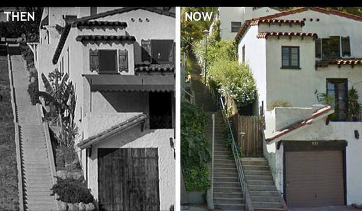 Laurel And Hardy On Twitter The Music Box Steps Then And Now