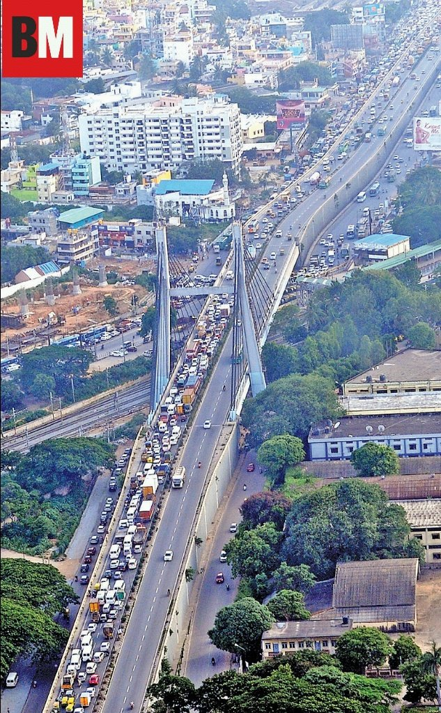 Bangalore Mirror On Twitter And There Hangs A Bridge Here S A Glimpse Of Bengaluru That You Don T Get To See When You Drive This Is How The Busy 230 M Krpuram Hanging Bridge