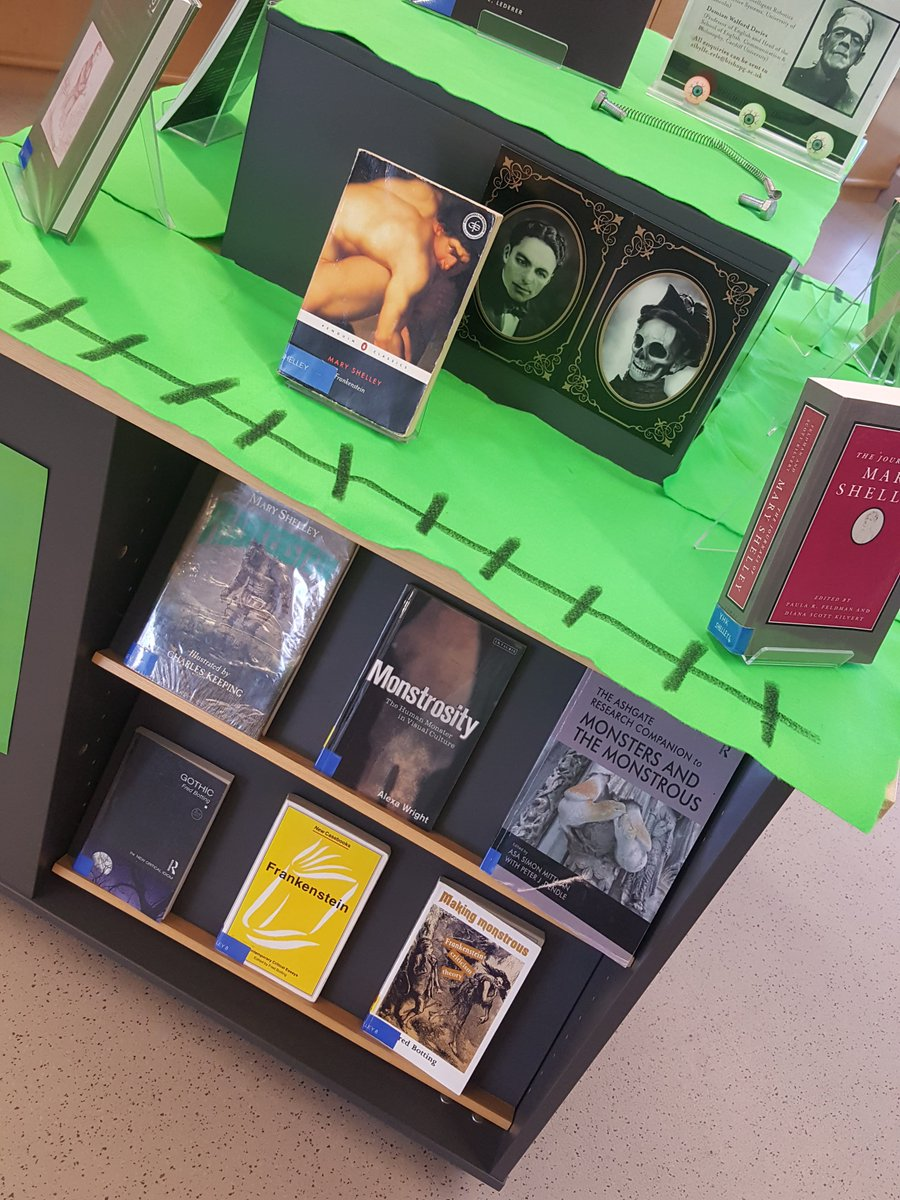 Our Book Display For The BGUMonsterConf Is All Set Up And Ready Special Thanks To Very Talented Library Assistant Claire Doing A Fantastic Job