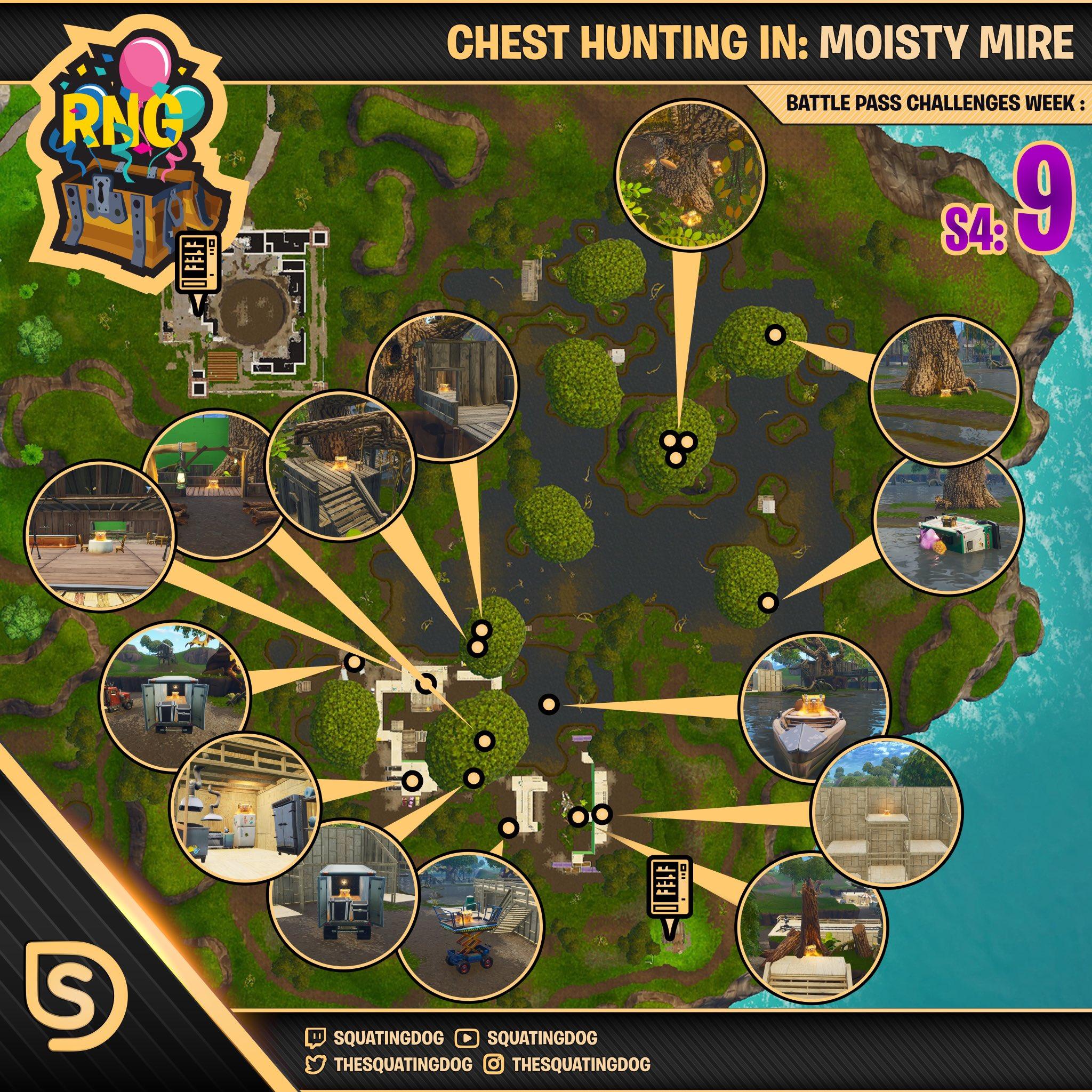 Fortnite Season 4 Week 9 Challenges Guide Variety