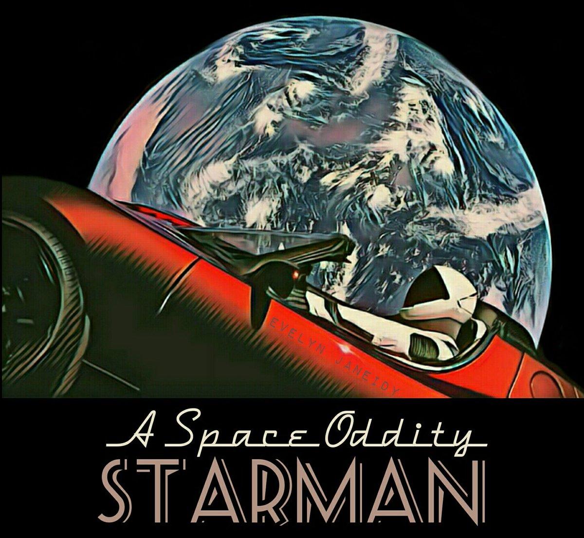 @elonmusk #SpaceX #Tesla My depiction of Starman 👽 ••• Happy Birthday Musk •••