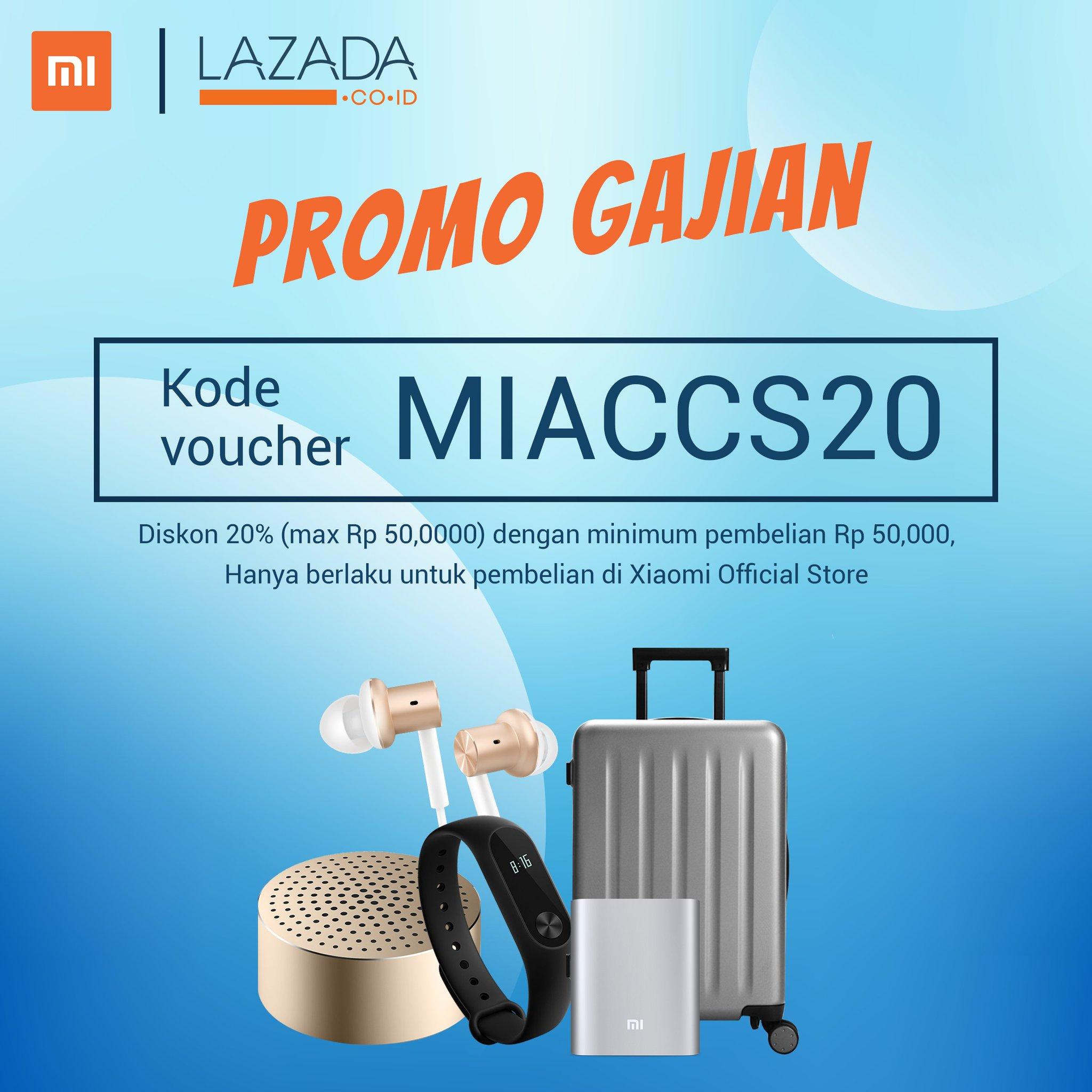 Xiaomi Indonesia Mifan On Twitter Ada Promo Gajian Nih Untuk Setiap Pembelian Accessories Di Xiaomi Official Store Di Lazadaid Pakai Kode Voucher Miaccs20 Ya S K Berlaku Https T Co 9a5a5dynhq