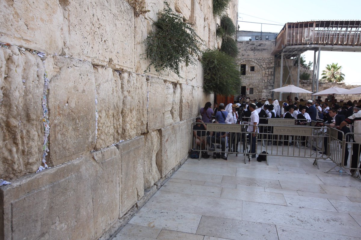 Waiting for Prince Williams at western wall