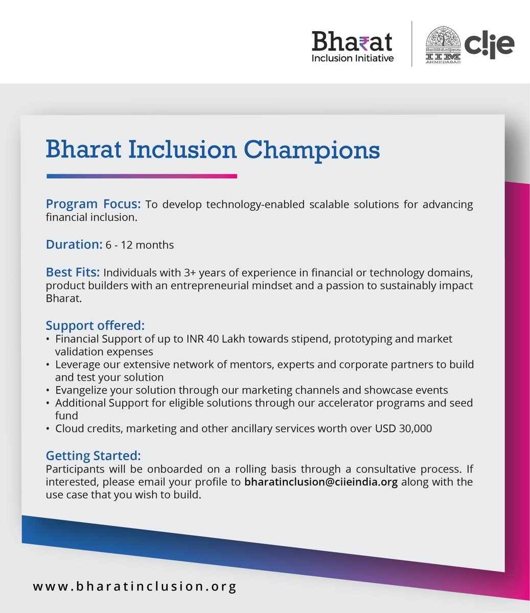 Ly To Bharatinclusionchampions Get Up 40 Lakhs More Hurry Last Few Slots Left Https T Co U1ftk1lv4v Indiastack
