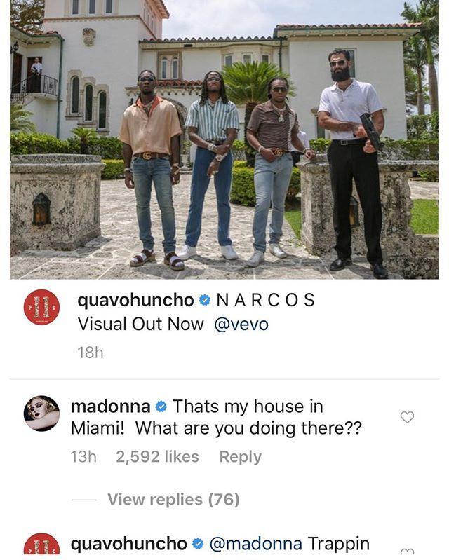 "MADONNA ""FICHA"" A MIGOS"