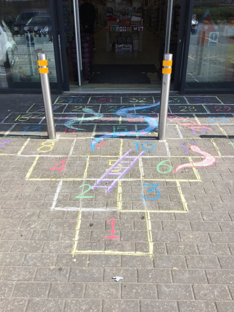 Hobbycraft Chingford On Twitter Why Not Create Your Own Out Door Snakes And Ladders Hobbycraft Chingford Games Chalk Funinthesun