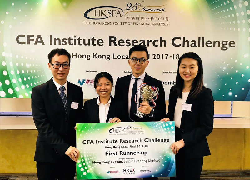 Congrats to the student team from PolyU's School of #Accounting and #Finance on winning the 2nd place at @CFAinstitute #ResearchChallenge Hong Kong Local Final 2017-2018! Learn more about the latest activities and achievements @PolyU_FB: https://t.co/sMOpMWbgr6 https://t.co/bcqJzl0S6k