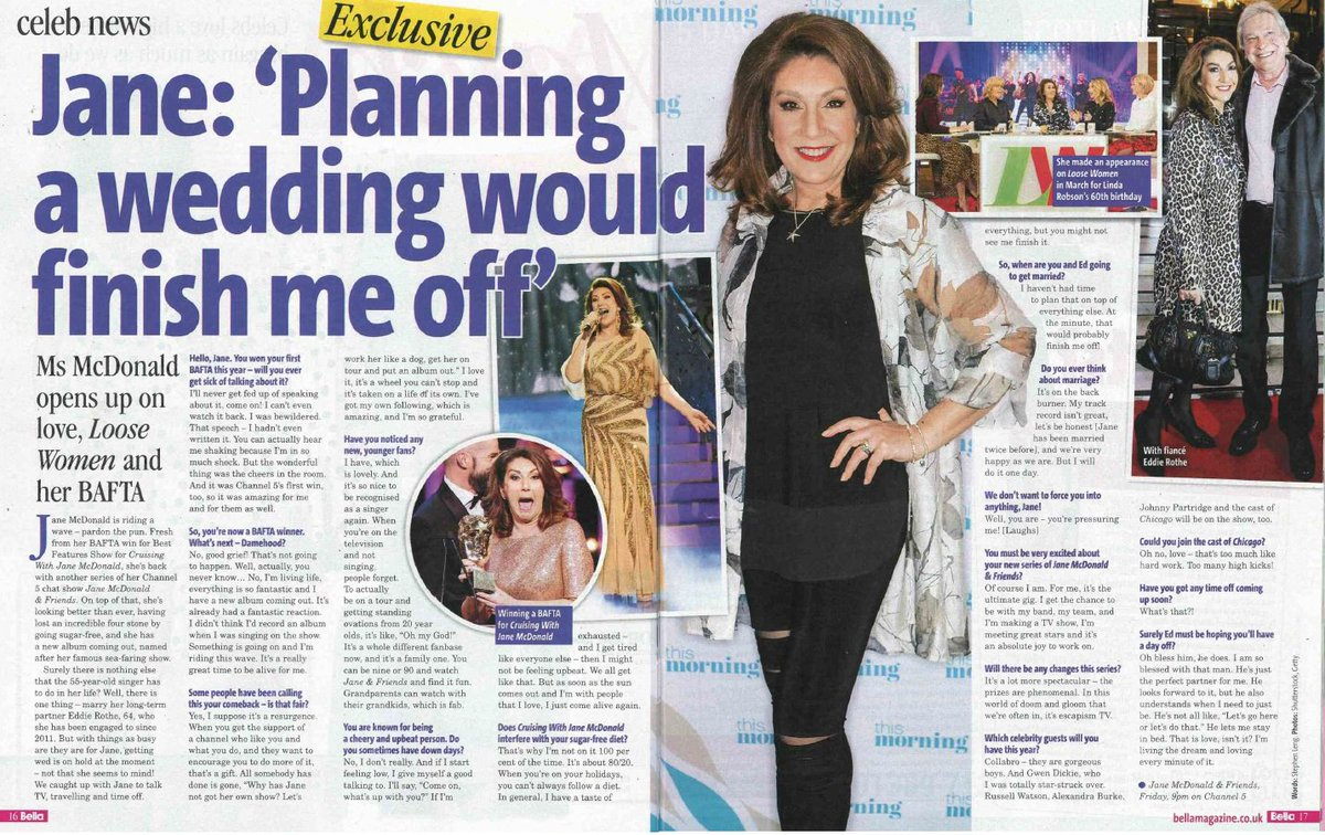 jane mcdonald on twitter ive got interviews with bella closer and soaplife magazines and more coming out heres a sneak peek