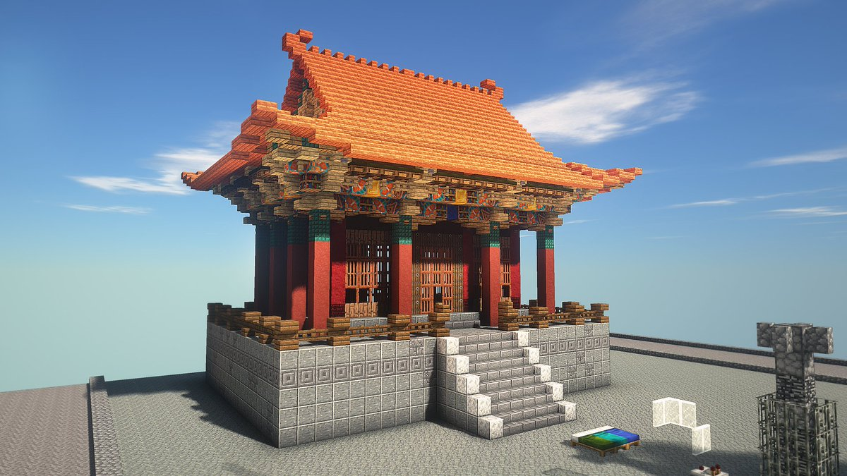 How To Make A Japanese Roof In Minecraft