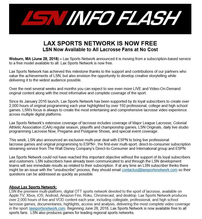 Lax Sports Network on Twitter: