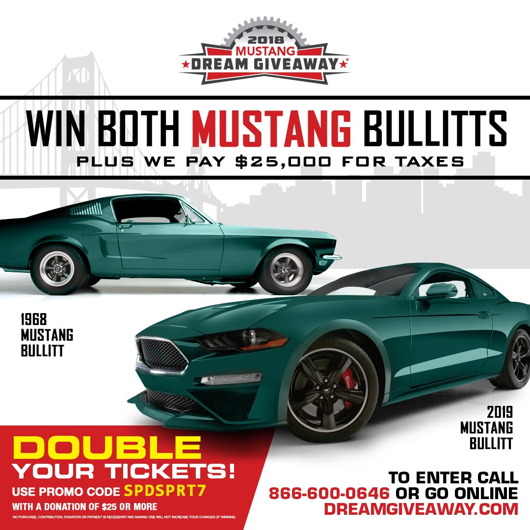 Mustang dream giveaway promo code