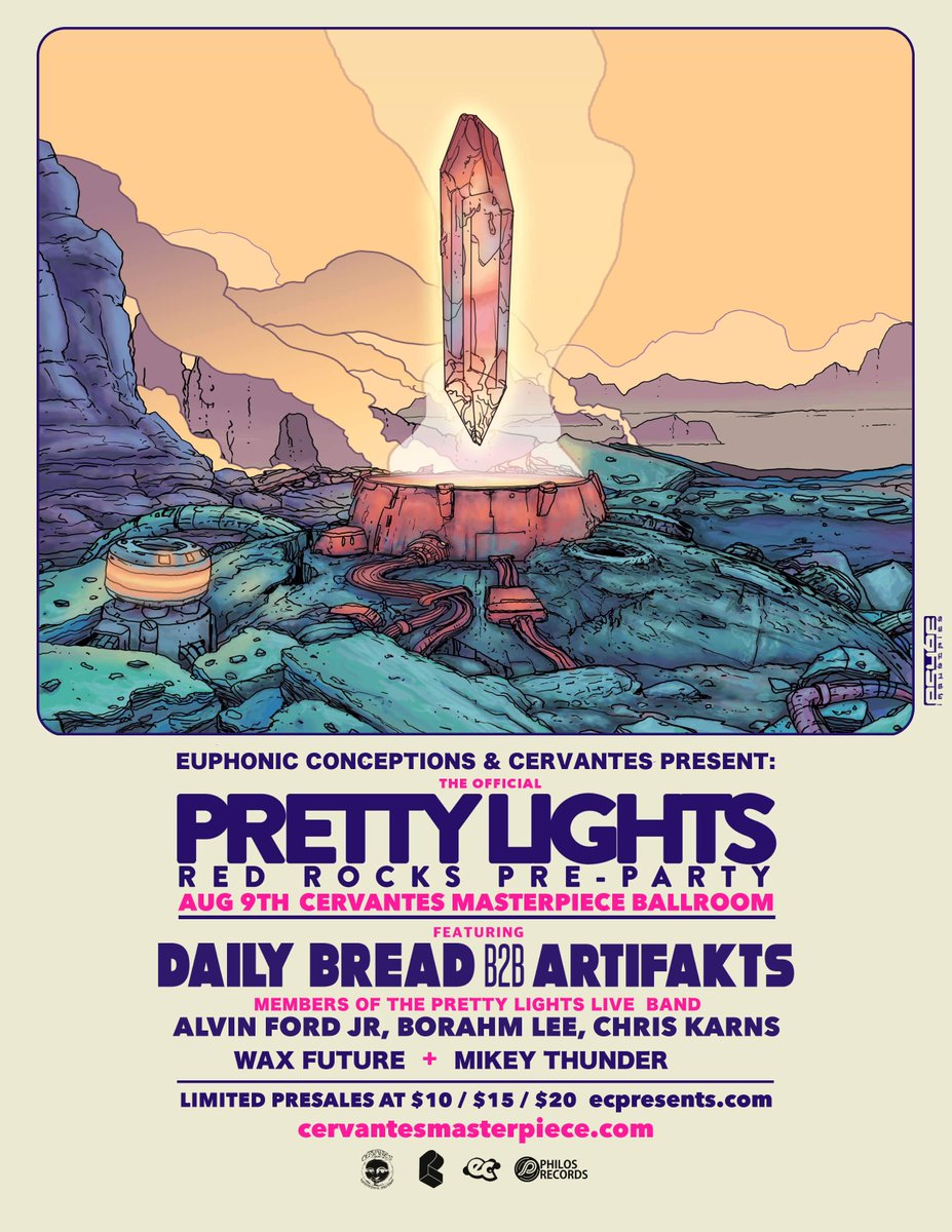 Announcing the Official Red Rocks Pre-Party on August 9th at Cervantes Masterpiece Ballroom.   Tickets on sale now: https://t.co/l0UsAiiUs7 https://t.co/wdTQPsFAo2