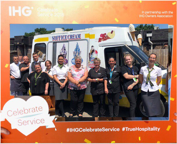 """Day 4 of  #IHGCelebrateServiceWeek at the Holiday Inn Newport! Lovely cold ice-cream for our staff on a hot summers day to say """"Thank you for all you do""""! #IHGhotel #HolidayInn #CelebrateService #ThankYou #summerday #MrWhippy https://t.co/PV8lGjIK9f"""