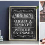 Grab a Prop and Strike a Pose Chalkboard Photo Booth Sign https://t.co/Q8Vi5EYuxl
