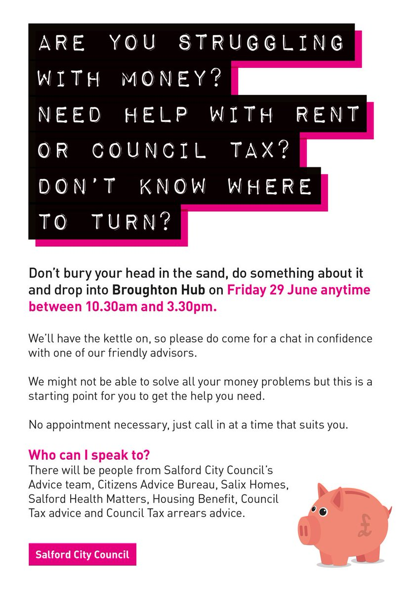 """salford city council on twitter: """"are you struggling with money"""