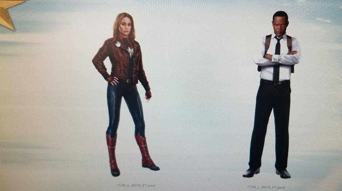 Captain Marvel and Young Nick Fury - Leaked Promo Art