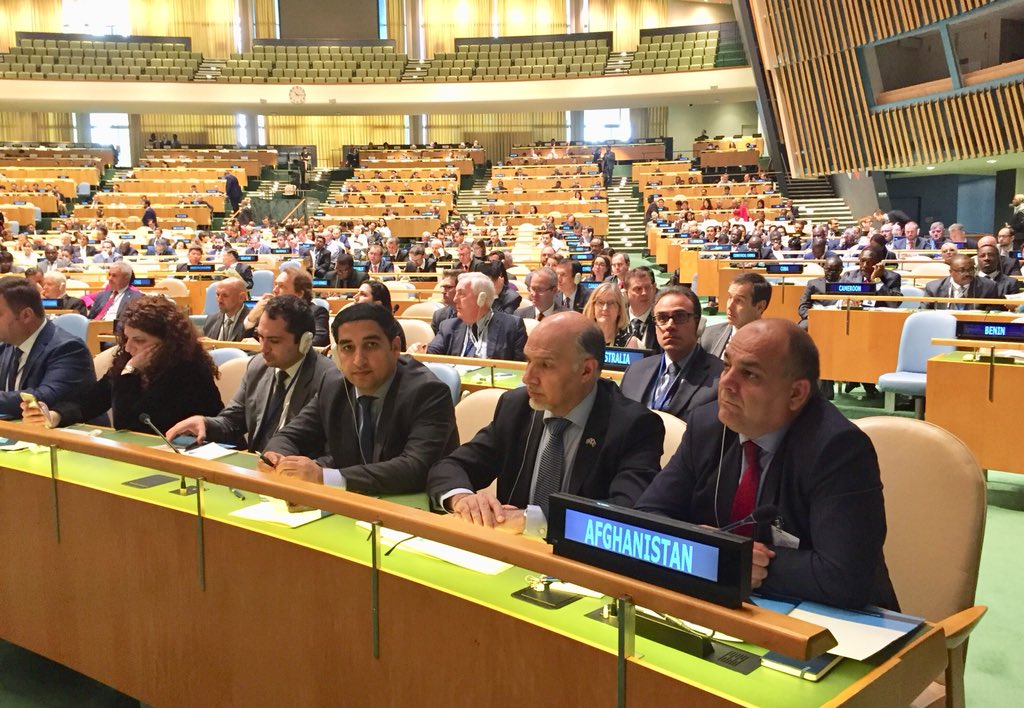 #Afghanistan delegation led by Minister of Interior H.E. @waisbarmak attends High-Level Conference of Heads of Counter-Terrorism Agencies of Member States at UN Headquarters NY. #UNitetoCounterTerrorism
