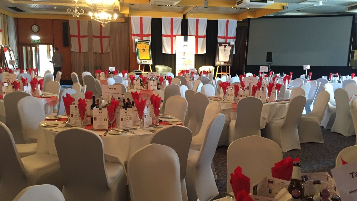 Slowly but surely the City Suite @mercurenorwich is getting there. Big thanks to the Norfolk business community who again have come out in force to support another Big Screen Sporting Dinner. Delighted that @RayClem1 will be joining us @simplymagic19 @JuliaHolland @neilahickman