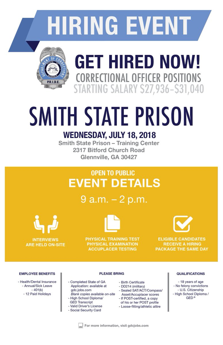 Georgia Corrections Are You Looking To Start An Exciting