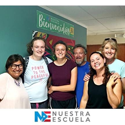 Wed like to give a huge shout out to our friends Christina, Kimberly, Allyson and Mark from Sonoma California, who voluntarily came to #NuestraEscuela to help out and be of support to us. We are greatly indebted to you guys. Thanks a lot! Love you!