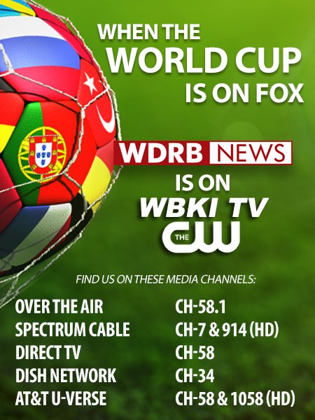 News: WDRB News at 11:30 and Noon will be on WBKI today