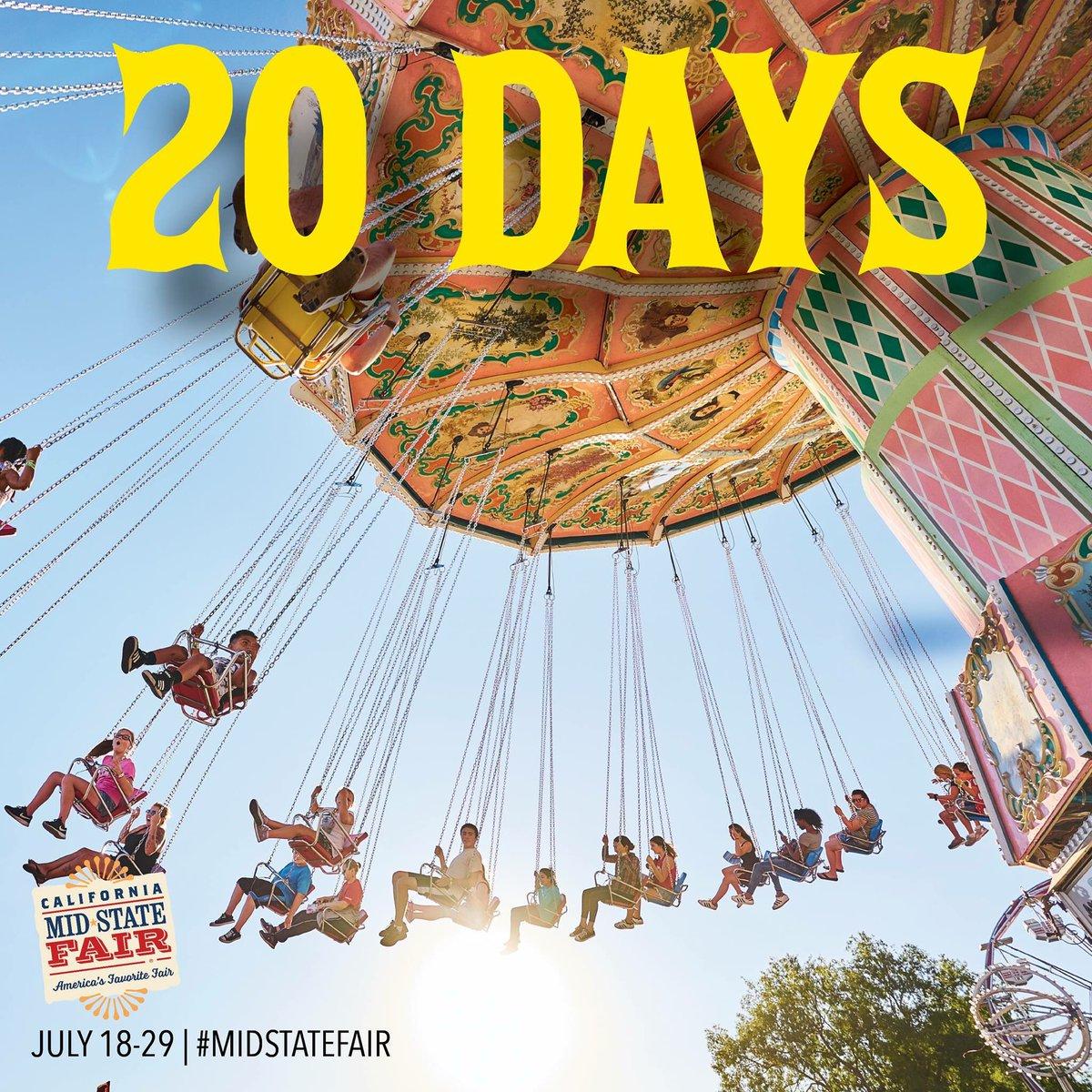 Paso Robles Mid State Fair 2020.California Mid State Fair On Twitter Twenty Days