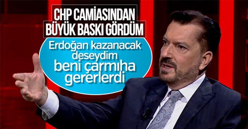 SONAR Başkanı Hakan Bayrakçı: Erdoğan'ın kazanacağını ilan etsem beni çarmıha gererlerdi