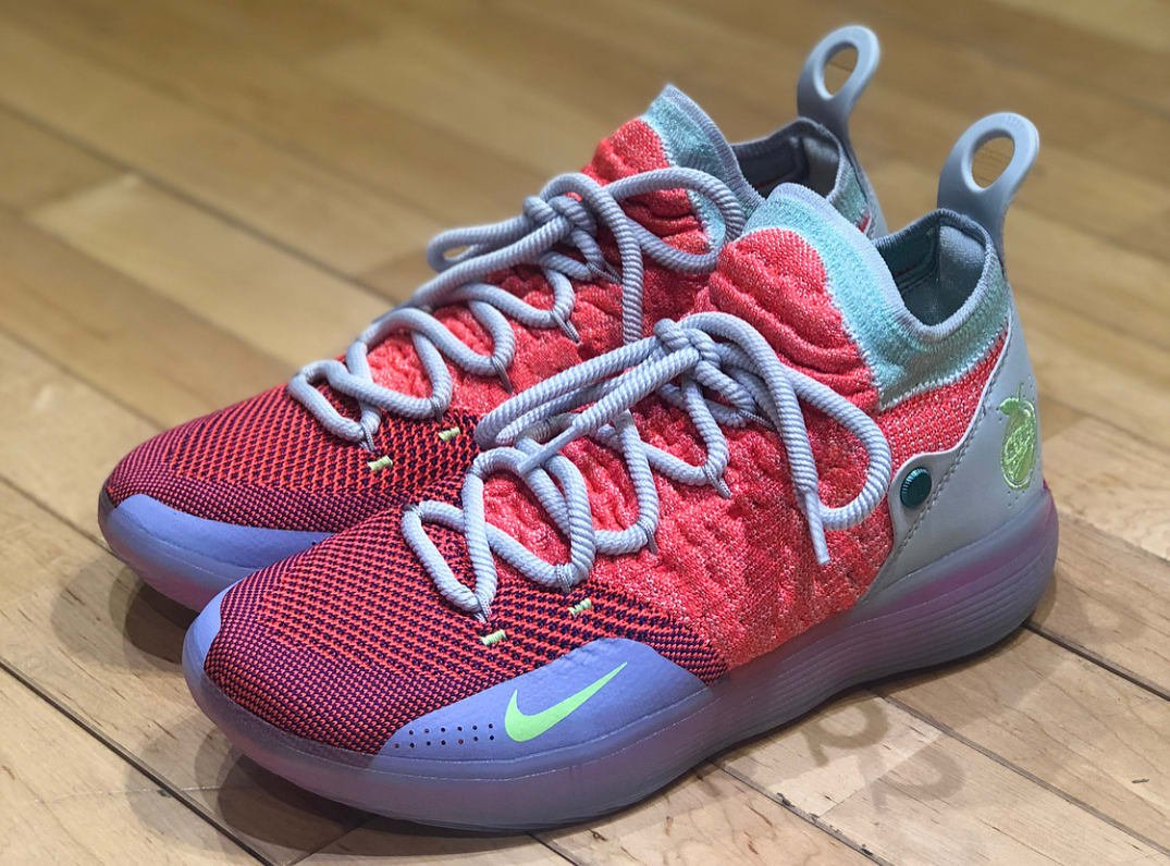 7d0ce372f3d1  SoleCollector 10 months. first look at the eybl nike kd 11 for peach jam